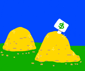 Piles and piles of gold