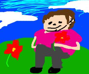 Fat Albert Picks Flowers