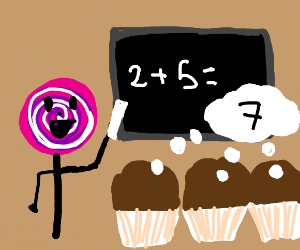 candy teaches math to muffins