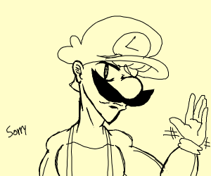 Anime luigi salutes at you