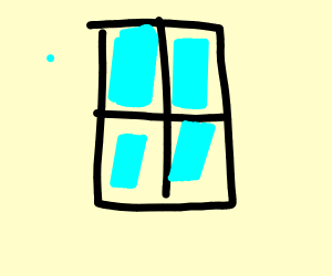 Blue tinted window