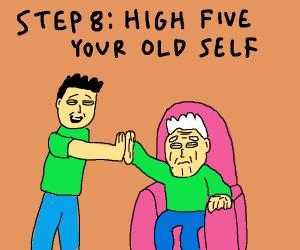 Step 7: Travel into future