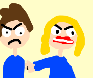 Angry married couple