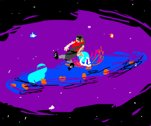 TF2 Scout in Space