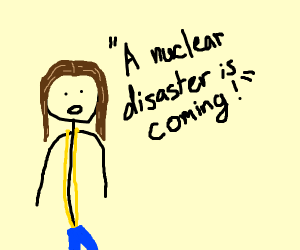 Girl in ultrawedgie warns of nuclear disaster
