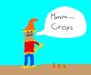 a scarecrow zombie