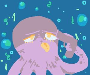 Octopus contemplates suicide