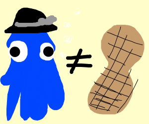 Squid with hat does not equal peanut