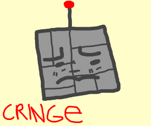 Dismembered Robot Head Cringe