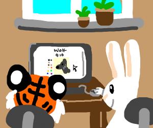 Tiger and Rabbit, Playing Drawception