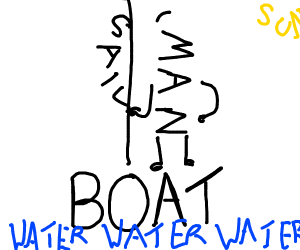 man on boat