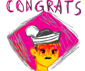 Congrats to angry sailor