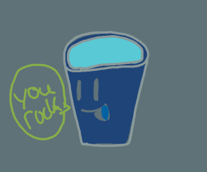 "cup saying ""you rock!"""