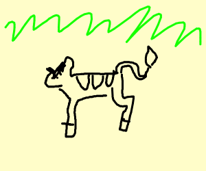 Angry Zebra in a field