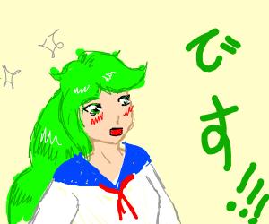 "Anime Girl Yelling ""DESU!"""