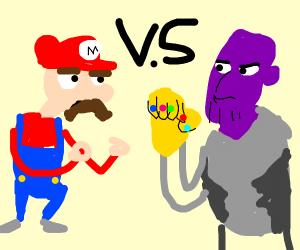 Mario vs Thanos