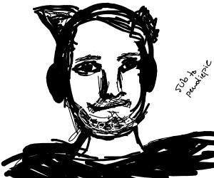 Pewdiepie Wearing Cat Headphones Missing Ear