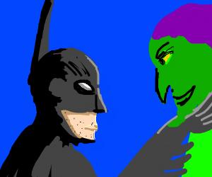 Batman chokes green goblin