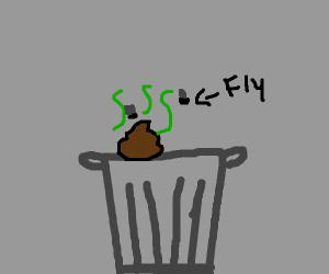 trash that has really bad poop in it