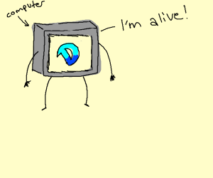 Drawception on computer that's alive