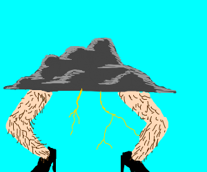 thundercloud with super grotesque legs