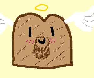 angel toast with a beard