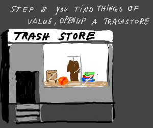 Step 7: now pick the trash up and put it back