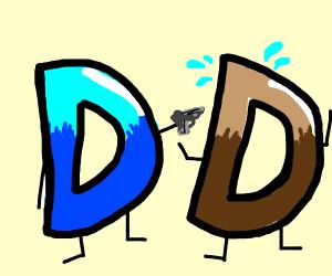 Drawception attacking brown drawception.