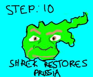 Step 9: Shrek's revenging his horns!