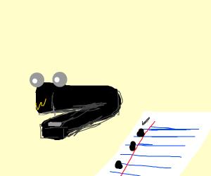 happy stapler
