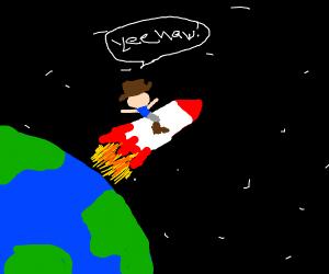 Cowboys Yee Haws in space