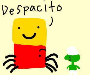despacito spider consoles a green smurf