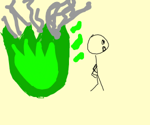Run away from the green fire