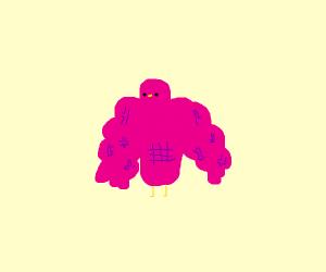 A really buff, pink bird