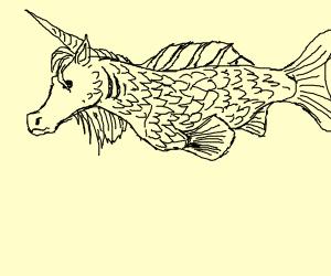 Unicorn goldfish