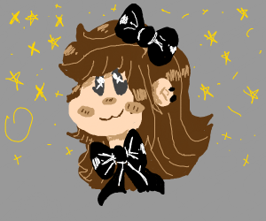 Cute Chibi brown haired girl