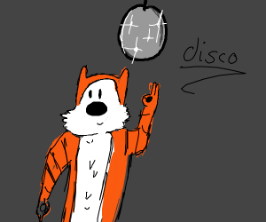Calvin and Hobbes disco party