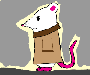 Mouse wearing a Coat