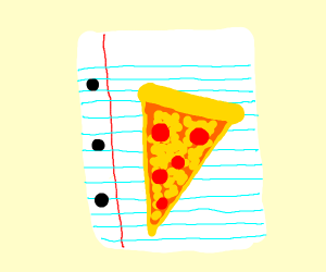 Pizza on paper