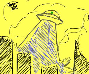 Aliens cause an apocalypse