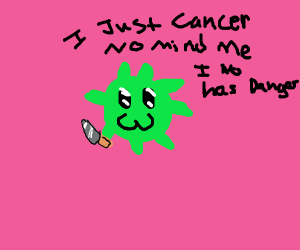 green cancer cell