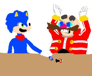 Egghead fights Sonic
