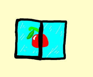 cherry in an ice cube