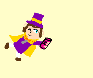 Hat in time kid offers a dum dum drink