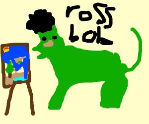 sad Bob Ross dinosaur