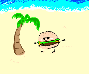 Burger on vacation