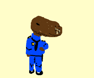 Capybara Police Officer