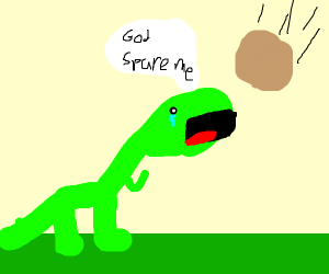Dino prays