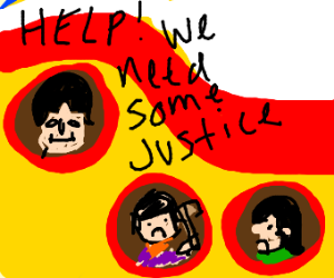 Dude in a yellow Submarine wants justice