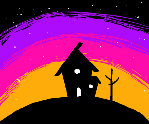 a house on a hill
